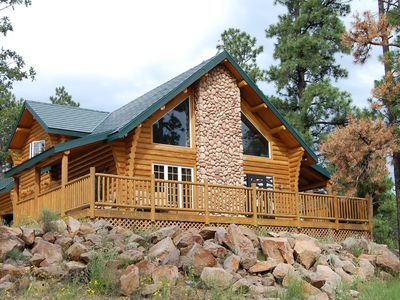 Photo for Secluded Log Cabin: Grand Canyon, Polar Express, 2mi from town!