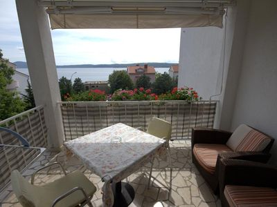 Photo for Studio flat with terrace and sea view Selce, Crikvenica (AS-4801-a)