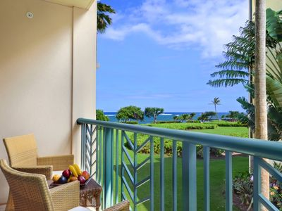 Photo for Waipouil Beach Resort Beautiful Ocean View Condo in Coveted Oceanfront H Building!