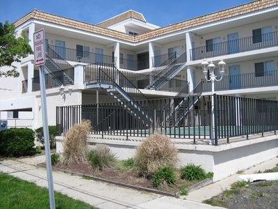 Photo for Oversized 1 BDR Condo sleeps six - 1st bldg off Boardwalk, Pool,WiFi,CATV