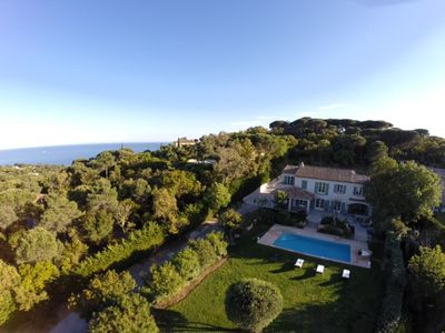 Photo for Architect house 320 m2, 6 bedrooms, swimming pool, magnificent sea and country views