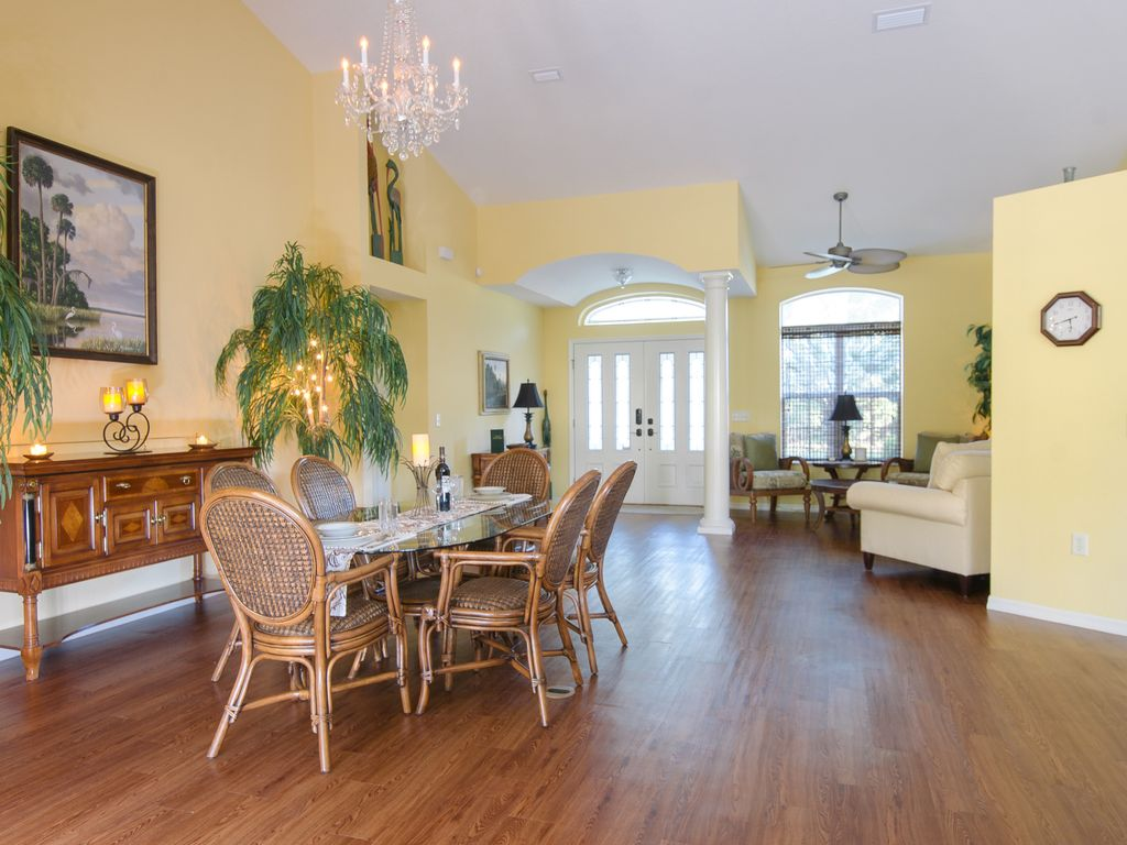 Grand Entry To Sitting Area Dining Room And Living