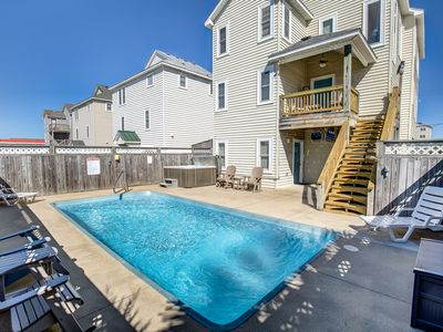 Photo for Peace, Love & Sandy Feet | 293 ft from the beach | Private Pool, Hot Tub