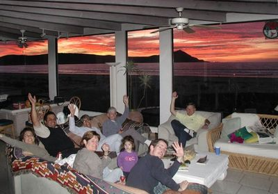 Guests enjoying one of our maginificent sunsets!