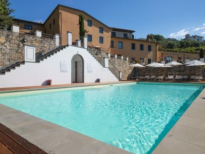 Photo for Paolo - Lucca. Amazing view from private terrace. Walk to village. Pool. WIFI.