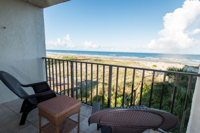 Beautiful sunrises everyday sitting on the  Oceanfront balcony. Quiet end unit!!