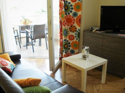 Photo for Charming Family Apartment, Baska view, 150m from the sandy beach