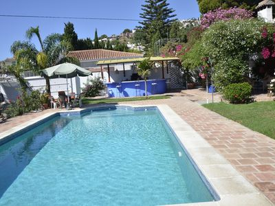 Photo for Modern villa on the beach, large private pool, BBQ, many flowers very quiet.