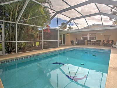 Photo for Canalside Cape Coral Home w/Private Pool - Pets OK