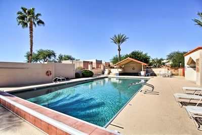 With access to a pool, beds for 4, and more this home is ideal for snow birds.
