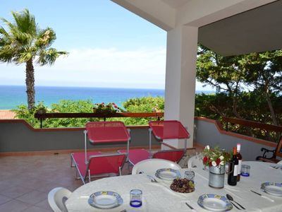 Photo for VILLA WITH VIEWS OF THE SEA 200 METERS FROM A BROAD BEACH SAND