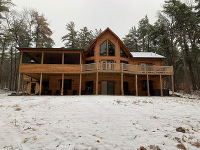 Photo for Recently built  Deer Pine Chalet luxurious log cabin