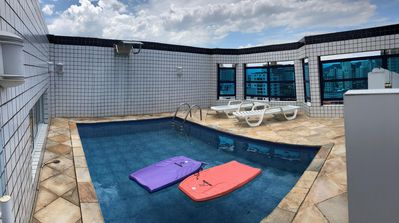 Photo for Penthouse Praia Grande High Standard C / Pool, Barbecue, Hydro, Air Cond.