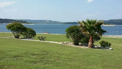 View from Main house back yard. Not rental house.
