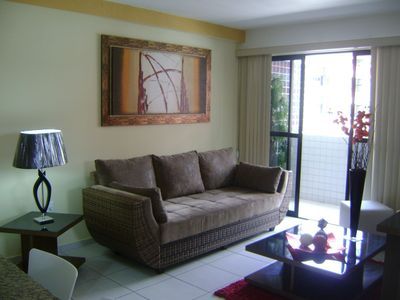 Photo for Beautiful Apartment Fully Furnished on the beautiful beach of Ponta Verde!