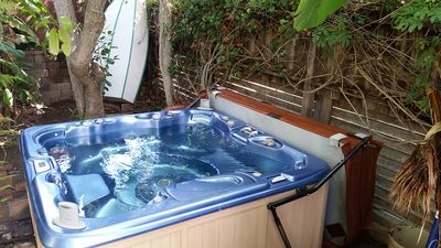 Photo for Cozy home just two blocks from the beach with jacuzzi