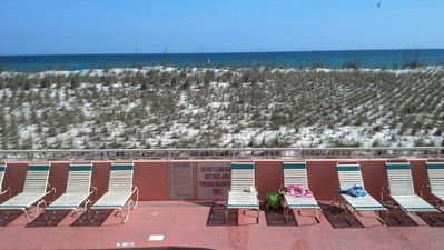 The view of The Gulf of Mexico from Seacrest 603 Pool & Hot Tub Area