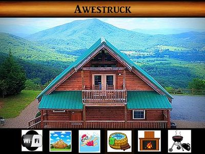 Photo for Awestruck} Perfect Mountain Views \ Hot Tub \ Fireplace \ Pool Access