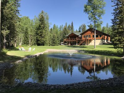Photo for Glacier Tamarack Tranquility Grand Home and  Serene Home located on 7 acres