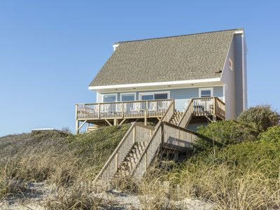 Photo for Narnia: 5 Bed/3 Bath Oceanfront House with Picture Windows, Well-Equipped Kitchen and Game Room