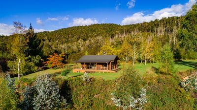 Photo for Triple Tui - Log cabin, self contained, river side