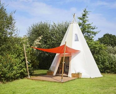 Photo for Camping Isle of the Three Kings *** - TIPI luxury comfort 2 rooms 4 persons