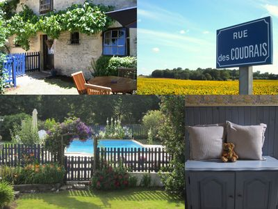 Photo for La Bergerie - character 2 bedroom cottage with shared pool