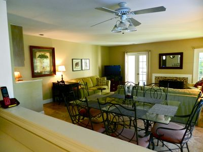 View Living Room and Dining area from the Kitchen.