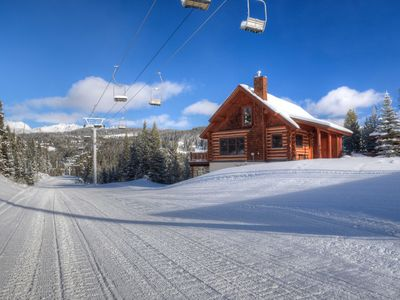 Photo for Big Sky Resort/Powder Ridge-Ski In/Ski Out with Private Hot Tub & Amazing Views