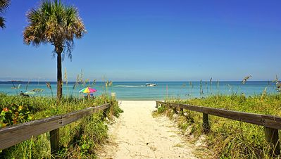 This is Paradise in Florida on Indian Rocks Beach, directly across the street from your Vacation home.