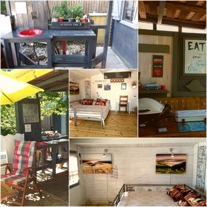 Photo for Self-catering holiday chalets, walk to local beaches. BBQs, hammocks, loungers.