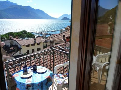 Photo for Apartment with beautiful views of the lake and mountains, free WiFi, calm.