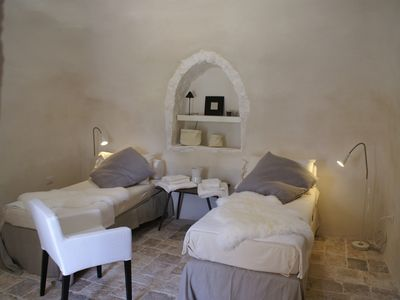 Photo for Trulli and Giardino in the Itria Valley, 6 Km from the Sea