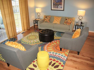 Photo for Beautiful community with Pool: Close to beach, outlets, restaurants and bars.