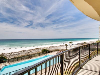Photo for Newly Renovated! 2nd Floor Luxury Gulf Front Unit! Community Pool!