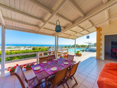 Photo for Private pool, amazing sea view, new