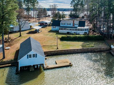 Photo for NEW LISTING- 7 BR, 4 BATH LAKE FRONT HOME WITH BOATHOUSE