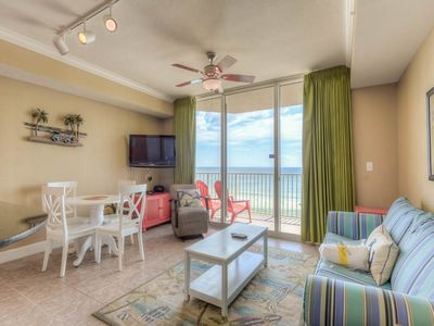 Photo for Inviting second-floor condo ! Free Wi-Fi. Free beach service!  Minutes to Pier Park!