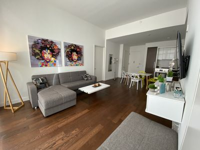 Photo for Outstanding 2 bedrooms apt blocks to Times Square