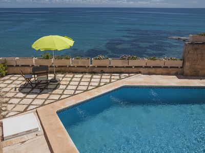 Photo for Waterfront villa, with direct access to the sea