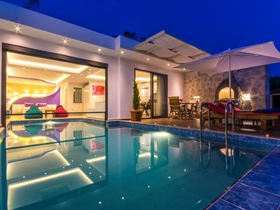 Photo for Honeymoon Villa with Secluded Heated Indoor Pool, Turkish Bath, Sauna & Views