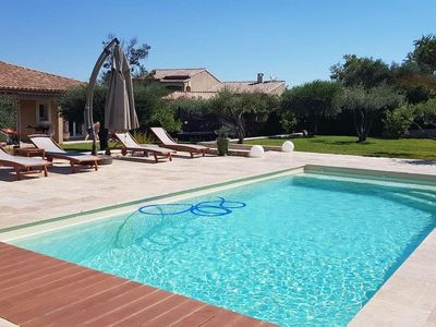 Photo for Charming villa near UZES -NIMES- AVIGNON with private pool for 4-5 people