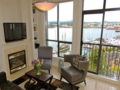 Great views of Victoria's Upper Harbour from the living room.