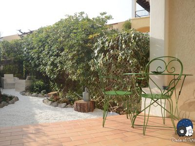 Photo for One Bedroom Appartment with garden 600m from the sea - Dodo et Tartine
