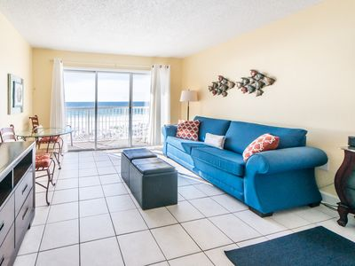 Photo for Cozy beachfront condo, Beach setup included, Convenient to shopping