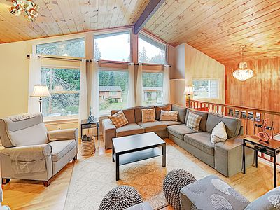 Family Getaway w/ Big Private Deck, Play Area & Game Room - Near Lone Lake