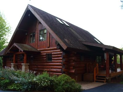 "Photo for Stunning Log home in the true ""Heart"" of Wisconsin."