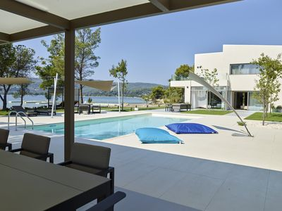 Photo for Diaporos island : Luxury villa with its private beach