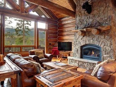 Photo for Luxurious Big Timber Cabin - views, private hot tub, foosball, GORGEOUS!