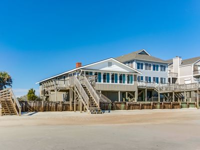 Photo for Four bedroom Ocean Front home with Elevator on Pawley's Island Beach